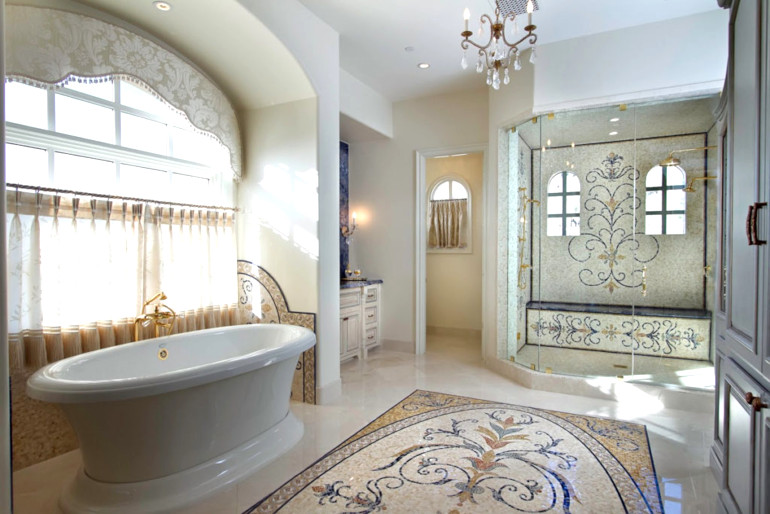 Bathroom-interior-with-glass-and-stone